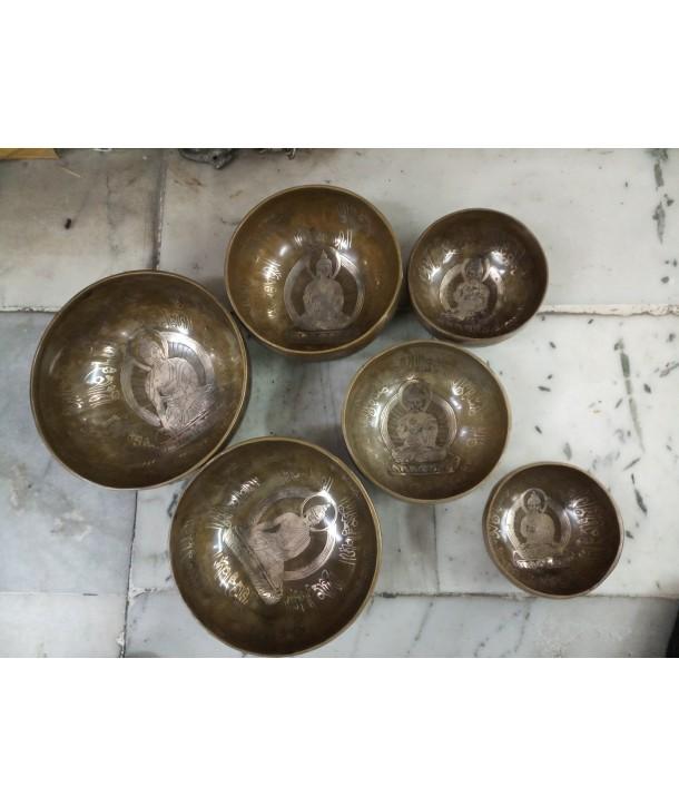 brass singing bowls carved