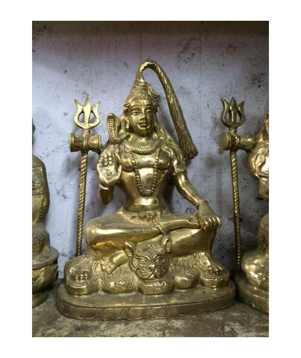 Brass statue shiva