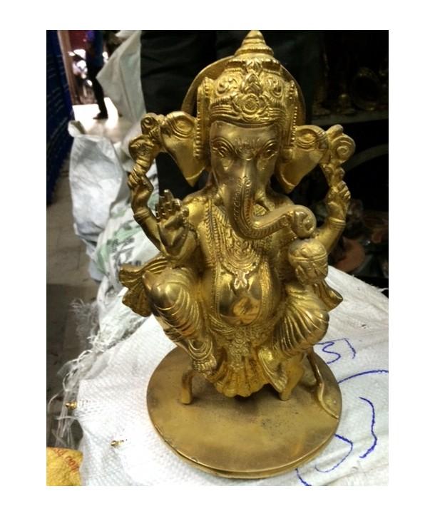 Brass statue Ganesha