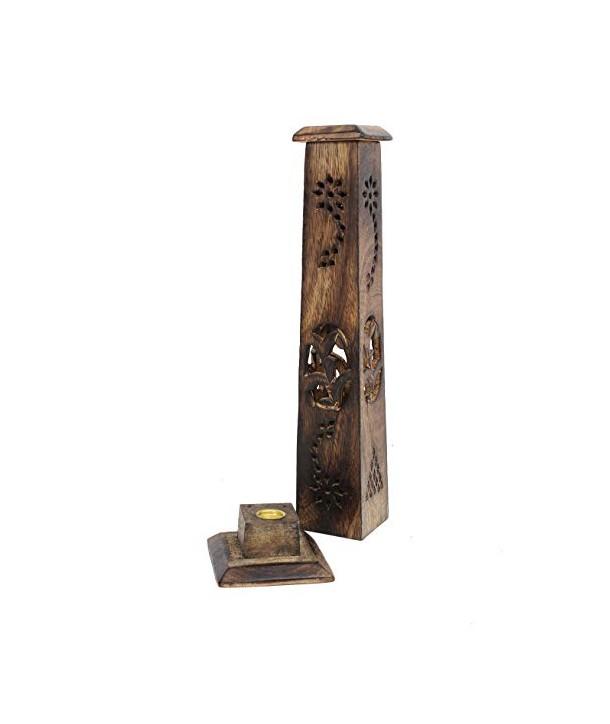 Wooden Incense Burner Tower Mango wood