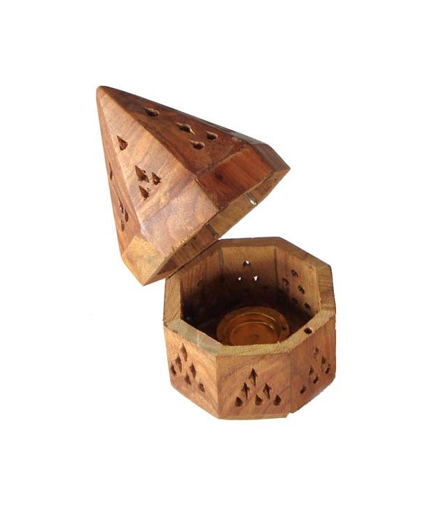 Wooden Incense Burner Cone