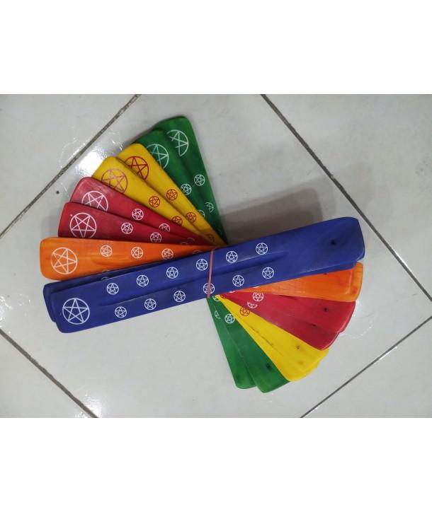 Wooden Incense Sledges Coloured
