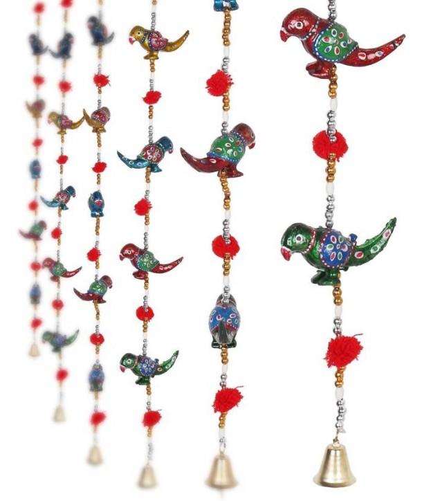 Rajasthani door hangings parrots