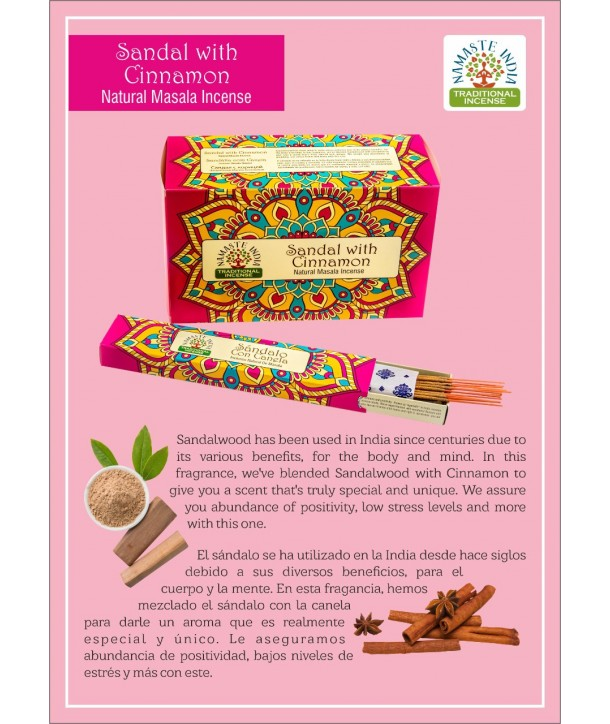 Sandal with Cinnamon Natural Masala Incense