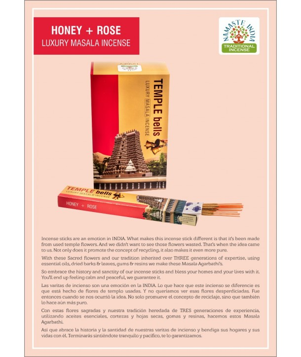 Honey with Rose Luxury Masala Incense