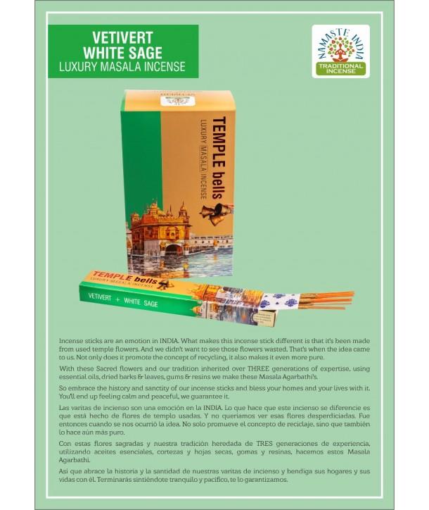 Vetivert White Sage Luxury Masala Incense