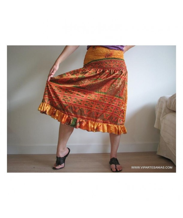 Printed Silk Skirt